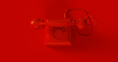 Red Telephone 3d illustration