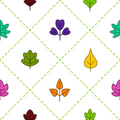Seamless background with vector leaves for your design
