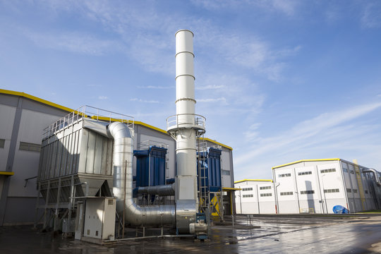Waste-to-energy facility outside
