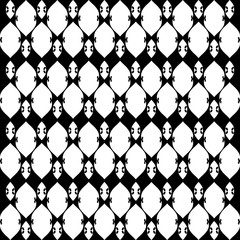 Lacy black and white pattern five