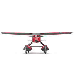 Private Seaplane on white. Front view. 3D illustration