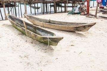 Local wooden boat. Surin Island.