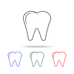 Premium tooth icon icon. Elements of human body part multi colored icons. Premium quality graphic design icon. Simple icon for websites, web design, mobile app, info graphics