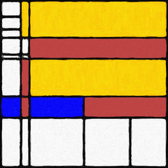 Mondrian Inspired Digital Painting 03