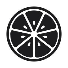 Lemon slice icon isolated on white background