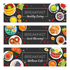 Breakfast  Horizontal Banners