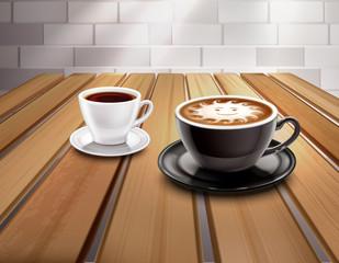 Espresso And Cappuccino Coffee Composition