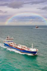 pétrolier en mer