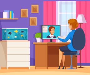 Online Job Interview Composition