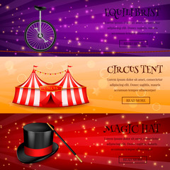 Magic Circus Banners Collection