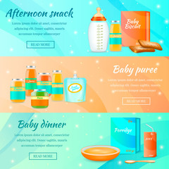 Infant Food Horizontal Banners