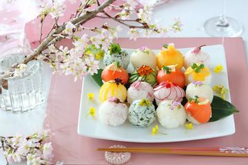 手まり寿司 お花見