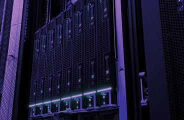 Fototapeta Web network, internet telecommunication technology, big data storage, cloud computing computer service business concept: