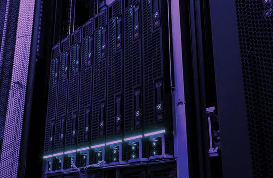 Web network, internet telecommunication technology, big data storage, cloud computing computer service business concept: