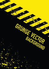 grunge yellow and black stripped background