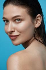 Beautiful Woman Without Makeup