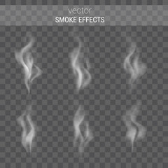 Garden Poster Smoke Vector collection of realistic smoke effects