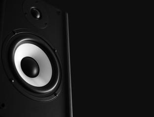 Audio speaker black background