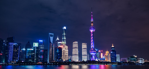 Shanghai Skyscrapers at night