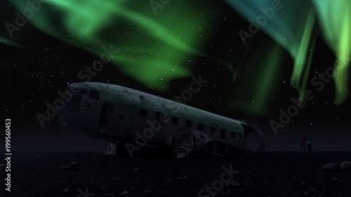 ICELAND DC-3 plane Flugzeug wreck Wrack