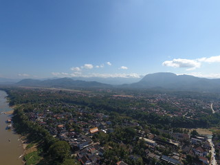 World Heritage : Luang Phabang, Laos : Drone View