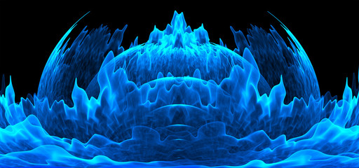 Beautiful background image, abstract ice castle