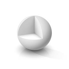 Cutaway sphere