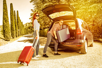 summer car on tuscany road