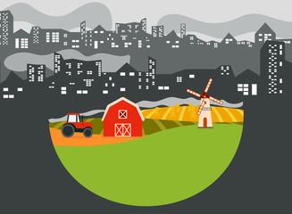 countryside vs city