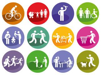 Menschen Symbol, Service Zeichen