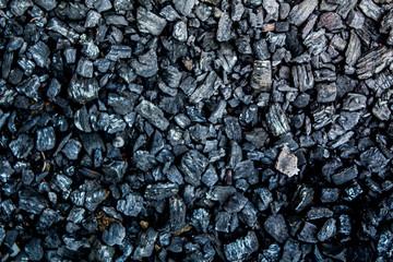 Background of old black stone pebbles in Phuket Thailand