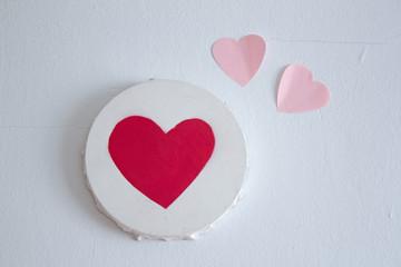 Cuadro de corazón con corazones de colores