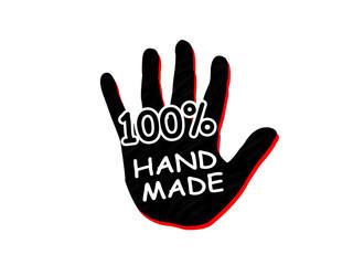 100 percent handmade