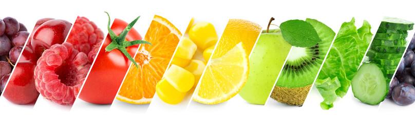 Kolaż kolor owoców i warzyw