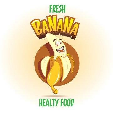 Sweet Banana vector cartoon character illustration