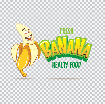 Sweet Banana vector cartoon character illustration