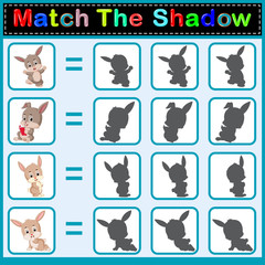 Find the correct shadow of the rabbit