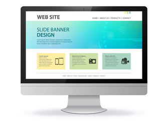 Responsive Web Site Design With Computer Screen