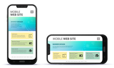 Responsive Web Site Design With Mobile Phone Screen