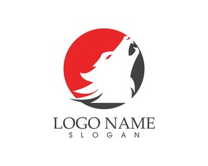 Wolf head logo design vector illustration