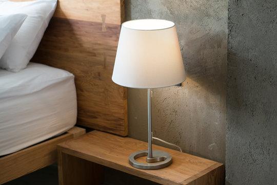 Modern lamp interior in bedroom