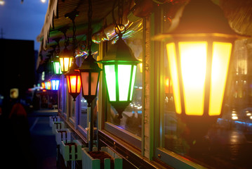 Old multi-colored street lights Fotomurales