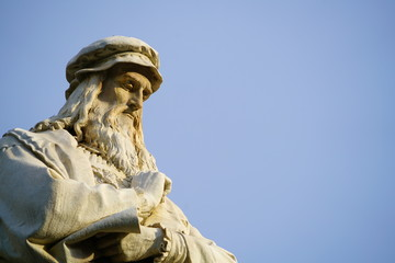 Head of the Leonardo da Vinci statue in Milan