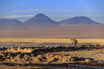 Photographer in the Moon Valley (Valle de la Luna), Atacama Desert, Chile