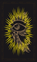 Tarot cards - back design.  The all-seeing eye