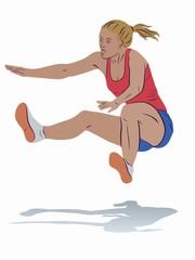 illustration of a long jumper , vector draw