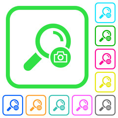 Search photo vivid colored flat icons