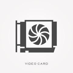 Silhouette icon video card