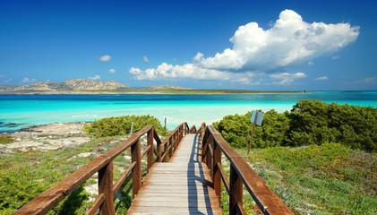 Fotomurales - Lagune mit türkisfarbenen Meer
