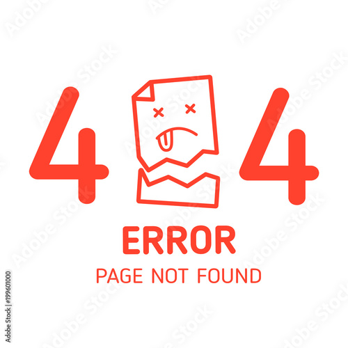 404 Error Page Not Found Miss Paper With White Background Design Template For Website Graphic